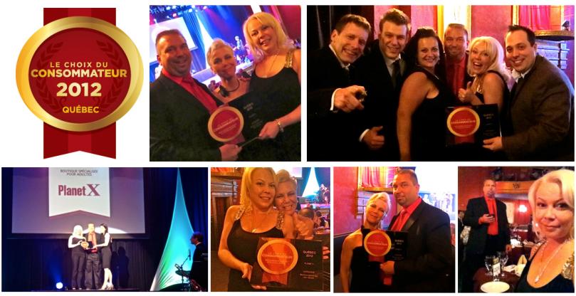 Les Boutiques PlanetX remportent le Prix du Choix du Consommateur 2012