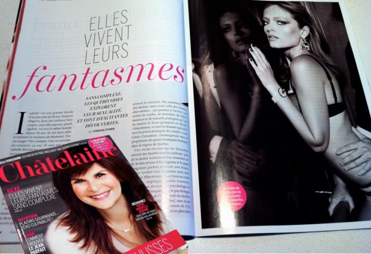 Magazine Châtelaine - SEXE: Elles vivent leurs fantasmes sans complexe - Février 2013