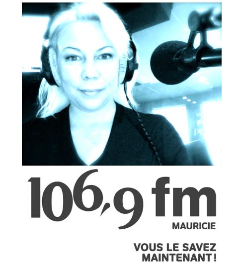 Entrevue de Cindy Cinnamon au 106,9 fm Mauricie