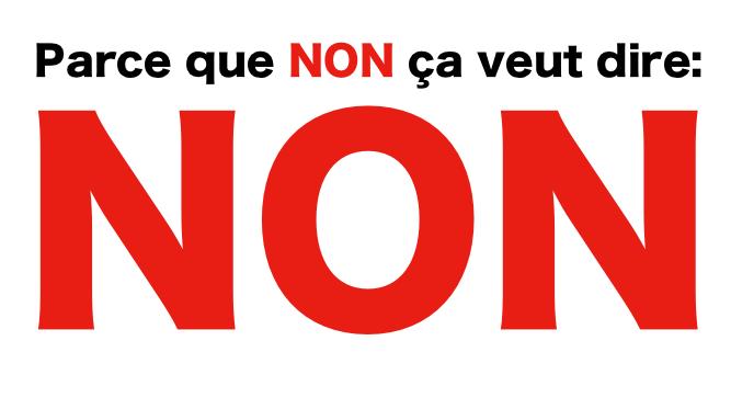 Parce que Non ça veut dire Non:  Quelques statistiques Canadiennes sur les Agressions Sexuelles