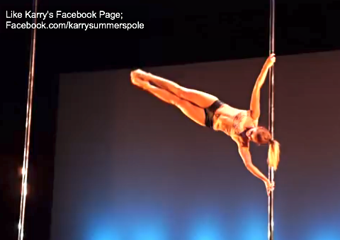 Karry Summers- Miss Pole Dance New Zealand 2013