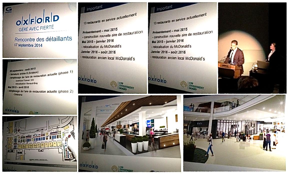 Projet de modernisation des Galeries de la Capitale Québec - Photos prises à la réunion des détaillants - Par Cindy Cinnamon
