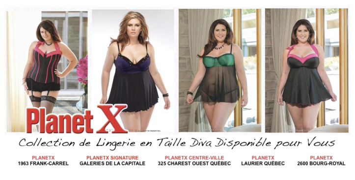 Collection Taille Diva disponible dans les Boutiques PlanetX à Québec