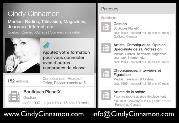 Cindy Cinnamon: Gardons contact sur LinkedIn