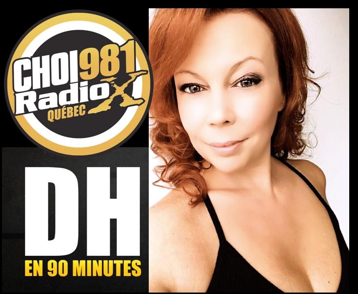 Cindy Cinnamon dans le DH en 90 Minutes à CHOI Radio X