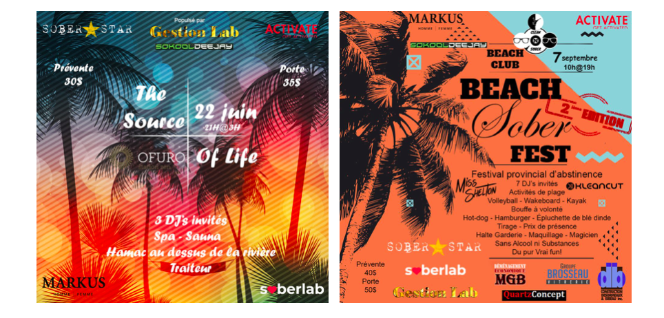 The Source of Life 2019 et Beach Sober Fest 2019